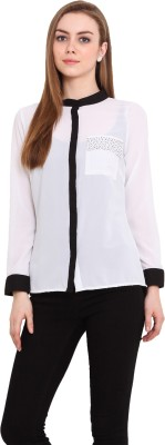 Blink Women's Solid Casual White Shirt