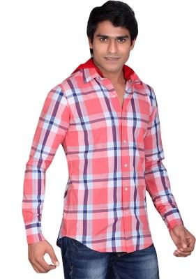 LUCfashion Men's Checkered Casual Multicolor Shirt