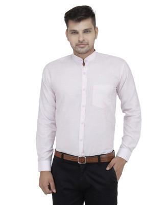 Cotton Clubs Men's Solid Formal Light Blue Shirt