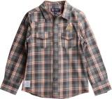 XnY Boys Checkered Casual Grey, Orange S...
