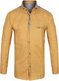 Jazzup Boys Solid Casual Beige Shirt