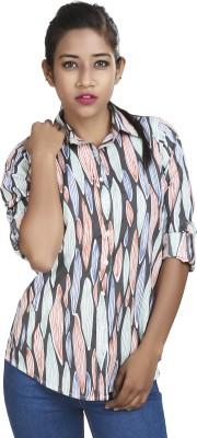 Defossile Women's Printed Casual Multicolor Shirt