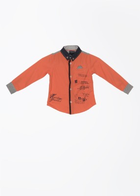 Cherokee Kids Boy's Printed Casual Orange Shirt