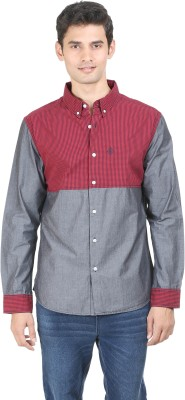 Global Nomad Men's Solid Casual Red Shirt