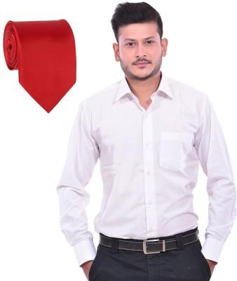 Royal Kurta Men's Solid Party White Shirt