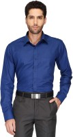 Stop By Shoppers Stop Formal Shirts (Men's) - Stop By Shoppers Stop Men's Solid Formal Blue Shirt