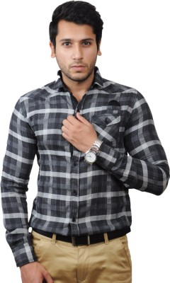 Flakes Fashion Men's Checkered Casual Multicolor Shirt