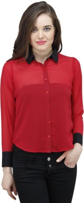 jay bhavani fashion Women's Embellished Casual Red Shirt