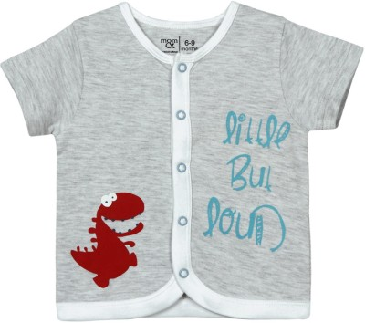 Mom & Me Baby Boy's Solid Casual Grey Shirt