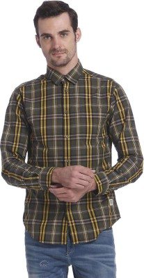 Jack & Jones Men's Checkered Casual Green Shirt