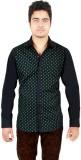 Qdesigns Men's Printed Casual Black Shir...