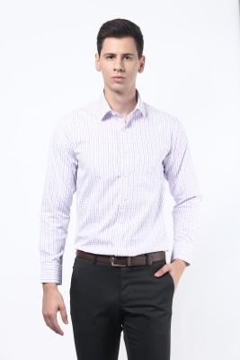 Remo Men's Checkered Formal Pink, Blue Shirt