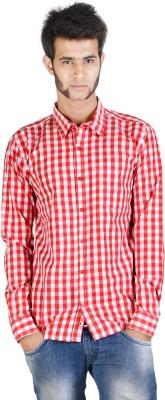 Corpus Men's Checkered Casual Red Shirt