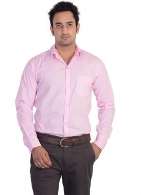 Mild Kleren Men's Solid Casual Pink Shirt