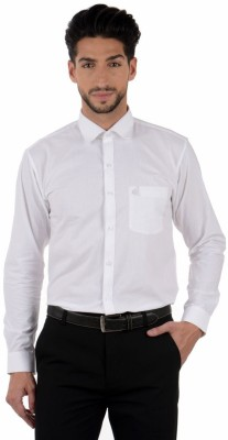 Winsome Deal Men's Solid Formal White Shirt