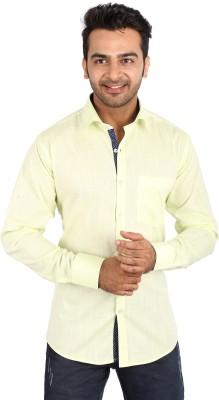 Regza Men's Solid Formal Light Green Shirt