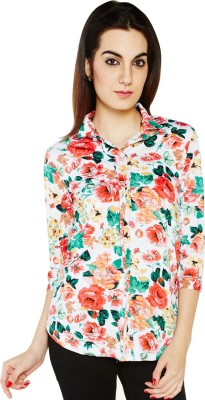 Globus Women,s Floral Print Casual Multicolor Shirt