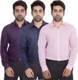 Deeksha Men's Solid Casual Purple Shirt ...