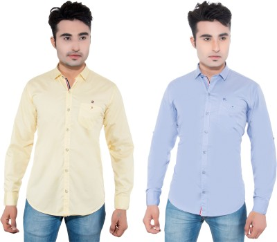 RX3 by Jetseep Men's Solid Casual Multicolor Shirt