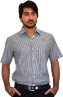 Pp Shirts Formal Shirts (Men's) - PP Shirts Men's Striped Formal Grey Shirt