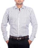 Aaduki Men's Checkered Formal Black Shir...