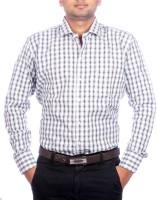 Aaduki Formal Shirts (Men's) - Aaduki Men's Checkered Formal Black Shirt