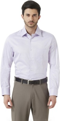 Peter England Men's Solid Formal Purple Shirt