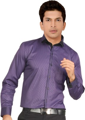 Red Country Men's Checkered Casual Purple Shirt