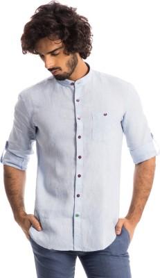 Specimen Men's Solid Casual Blue Shirt