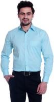 Tag 7 Formal Shirts (Men's) - Tag 7 Men's Solid Formal Blue Shirt