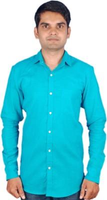 maclavaro Men's Solid Casual Dark Green Shirt