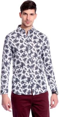 Goodkarma Men's Floral Print Casual White, Grey Shirt