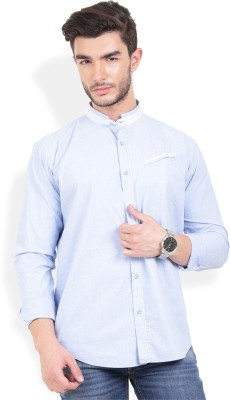 Urban Attire Men's Solid Casual Blue Shirt