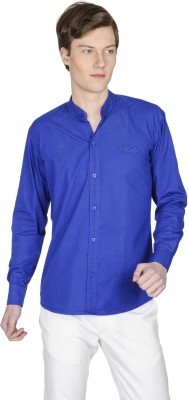 Poker Dreamz Men's Solid Formal Blue Shirt