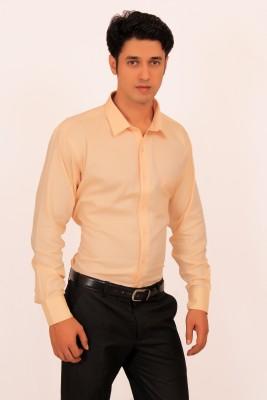 Green Bows Men's Solid Formal Yellow Shirt