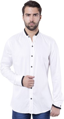 Tag & Trend Men's Solid Casual White Shirt