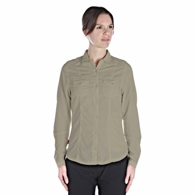 Craghoppers Women's Solid Casual Brown Shirt