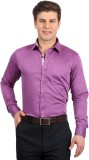 Solemio Men's Solid Formal Purple Shirt