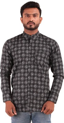 The G Street Men's Printed Casual Black Shirt
