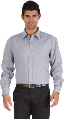 Furore Men's Striped Casual Grey Shirt