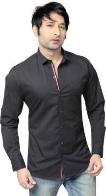REDOX Men's Solid Casual Grey Shirt