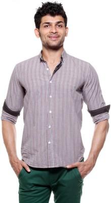 Fashion My Day Men's Checkered Casual Grey Shirt