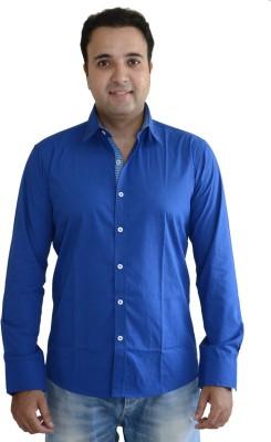 Kings Republic Men's Solid Casual Dark Blue Shirt