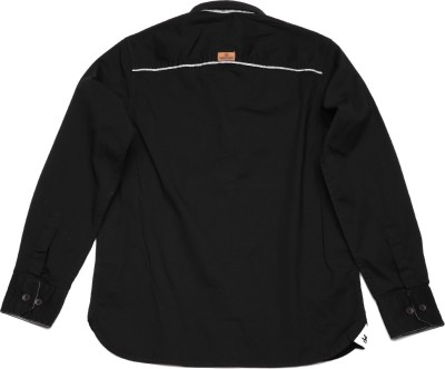 WROGN Boy's Solid Casual Black Shirt