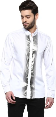 Yepme Men's Printed Party White Shirt