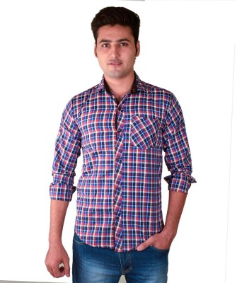 FUEGO Men's Striped Casual Red, White Shirt