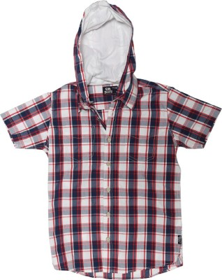 Flying Machine Boy's Checkered Casual Multicolor Shirt