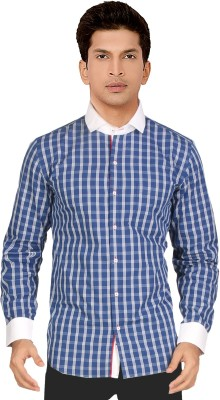 Red Country Men's Checkered Casual Blue, White Shirt