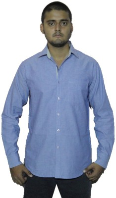 The GreeK Men's Solid Casual Light Blue Shirt