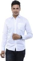 Adhaans Formal Shirts (Men's) - Adhaans Men's Striped Formal White Shirt